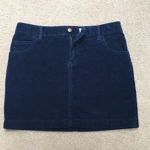 Urban Outfitters BDG Blue Corduroy Skirt Size 2